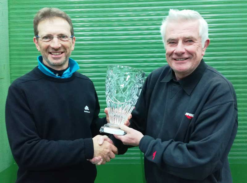 George Bolton - Golf Player of the month with trophy